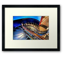 Round and Round -  QVB Sydney - The HDR Experience Framed Print
