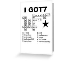 GOT7 Crossword Puzzle Greeting Card