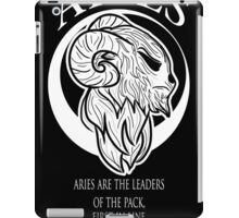black and white aries zodiac iPad Case/Skin
