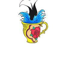 Diving into Tea. by Marissa Falk-Varcoe
