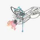 Life is Strange Gun Watercolored by scolecite