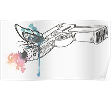 Life is Strange Gun Watercolored Poster