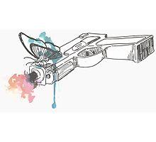 Life is Strange Gun Watercolored Photographic Print