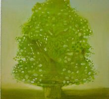 tree study # 2 with sap green by Rachel  Aponte