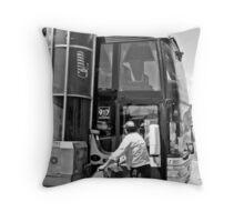 Busstop II Throw Pillow