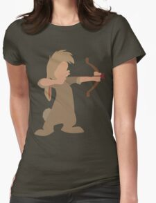 "Nibs Bow and ""Arrow"" Womens Fitted T-Shirt"