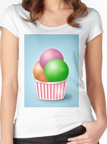 yummy Ice cream digital art Women's Fitted Scoop T-Shirt