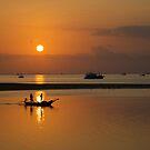 Sand bar sunset by Keith Poynton