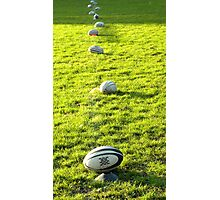 11 RUGBYBALLS Photographic Print