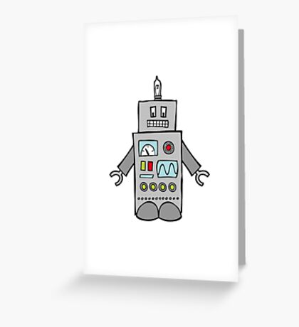 Robot Friend 1000 Greeting Card