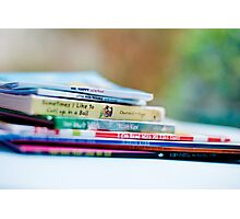 there are many little ways to enlarge your child's world...love of books is the best of all. Photographic Print