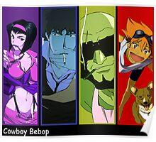 cowboy bebop spike spiegel faye edward jet anime manga shirt Poster