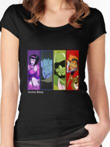 cowboy bebop spike spiegel faye edward jet anime manga shirt Women's Fitted Scoop T-Shirt