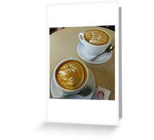Two Lattes, Please Greeting Card