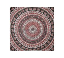 Tapestry Elephant Red Background Scarf