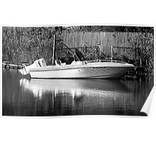 lonely little boat B&W Poster