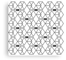 EXO Call me baby Pattern black Canvas Print