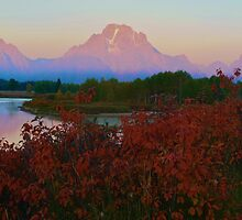 Sunrise at Oxbow Bend by Luann wilslef