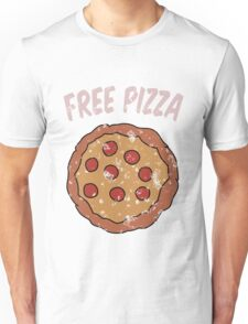 Free Pizza Guy (print on RED for best results) Unisex T-Shirt