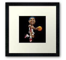 Lebron cartoon Framed Print