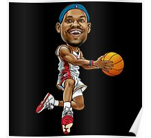 Lebron cartoon Poster