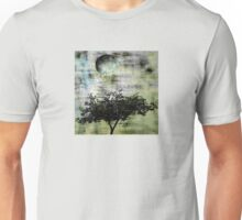 Worn Landscape Washed in Aqua and Gold Unisex T-Shirt