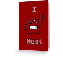 I love Meat Greeting Card