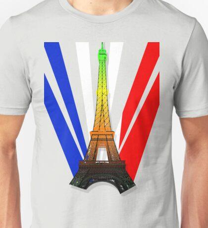 French Flag- Aromantic Pride Unisex T-Shirt