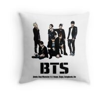 BTS Bangtan Boys Throw Pillow