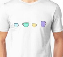colorful tea coffee cups Unisex T-Shirt