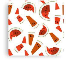 Refreshing watermelon Canvas Print