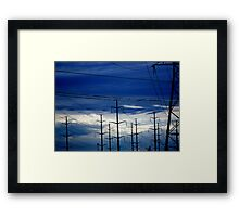 Here there be Giants! Framed Print