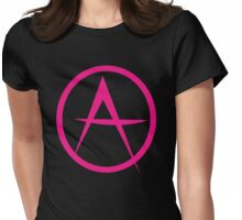 HOT PINK ANARCHY symbol Womens Fitted T-Shirt