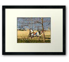 Swinging Horse Framed Print