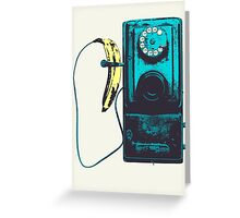 Vintage Banana Public Telephone Greeting Card