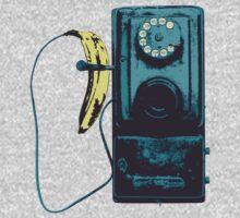 Vintage Banana Public Telephone by Illustratorial