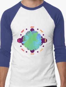 World of Pigs Men's Baseball ¾ T-Shirt