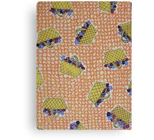 """Flowerpots - yellow on orange"" Canvas Print"