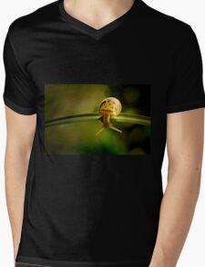 Snail doing gymnastics Mens V-Neck T-Shirt