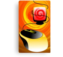 Digital painting of a computer Canvas Print