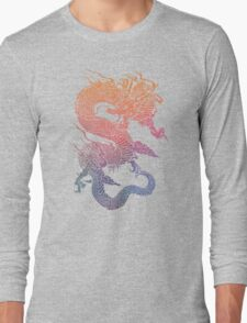 Colourful Chinese Dragon Long Sleeve T-Shirt