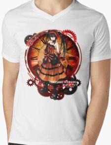 Tokisaki Kurumi Black Date-a-Live Anime T-shirt Mens V-Neck T-Shirt