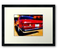 red mercedes benz 300cd Framed Print