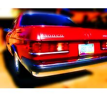red mercedes benz 300cd Photographic Print