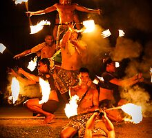 Fijian Fire Dancing by Belinda Doyle