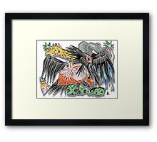 death to poachers Framed Print