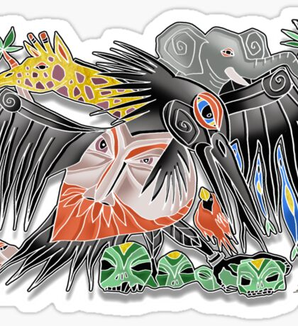 death to poachers Sticker