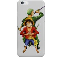 one piece roronoa zoro monkey d luffy anime manga shirt iPhone Case/Skin