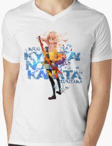 Mirai Kuriyama Anime T-shirt Mens V-Neck T-Shirt
