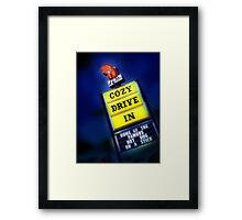 cozy drive in, route 66 Framed Print